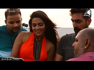 Amala Paul hot braless back and boobs show