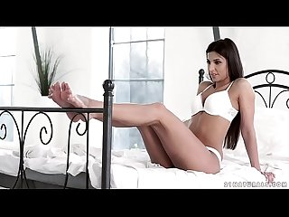 Angela allison gives footjob