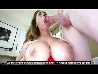 Busty Asian stepmom loves to fuck and suck