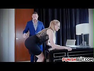 Sexy Secretary Trained To Obey Kinky Boss Nasty Commands