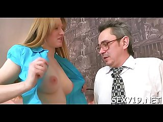 Young angel is being ravished by a lusty mature fellow