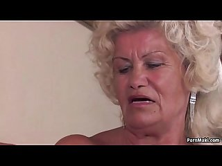 Granny screams while fucked hard