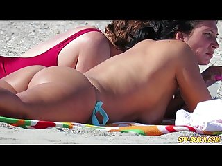 Amateur topless milfs voyeur beach hd video