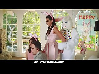 FamilyStrokes - Cute Teen Fucked By Easter Bunny Uncle