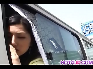 Ran asakawa enjoys car Sex until her pussy filled with jizz more at hotajp com