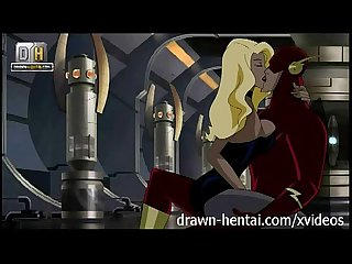 Justice League Hentai - Canary fucked in a Flash