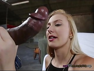 Alexa grace shows them how to suck monsters