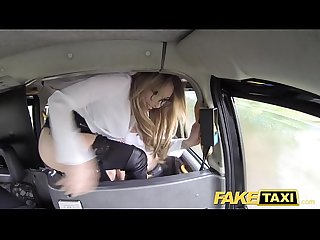 Fake taxi sexy hot lesbian threesome in london cum stained cab
