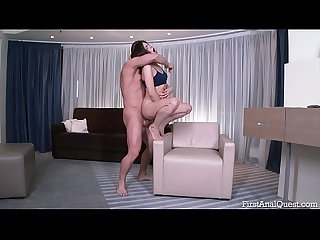 FIRSTANALQUEST.COM - TEEN MARI MOORE FUCKED IN THE ASS WITH BIG COCK