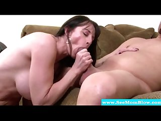 Mature with glasses sucking Dick