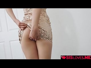Step bro testing out Chloe Cherry's anal one last time!