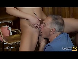 Daddy4k young girl and boyfriend s daddy embark sensual sex in bar