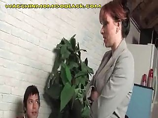 Teaching son lesson by fucking black cock