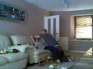My mom and boyfriend having fun caught by hidden cam