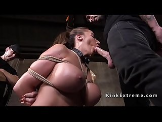 Huge tits slave gets big ass spanked