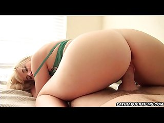 Latina nympho gets cum all over her face
