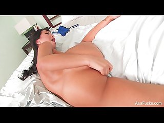 Home video toy play in bed with asa Akira