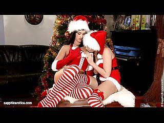 Christmas oral by sapphic erotica sensual lesbian sex scene with tess and lind
