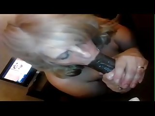 Whore wife supposed to be at work but has bbc in her mouth