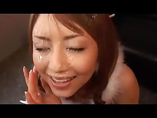 Japanese girls facial compilation part 1