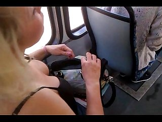 Candid titts on tram polish mature