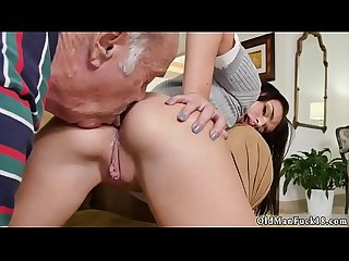 Nasty Old men and granny fucks Young guy riding the Old wood excl