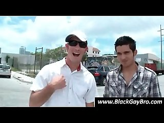Two white hunks hunt gay black thug