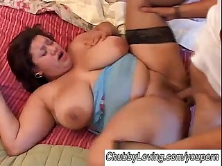 beautiful big tits bbw brunette boned