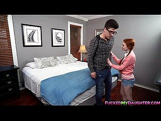 Dolly little seduces her brother in law and sucks cock