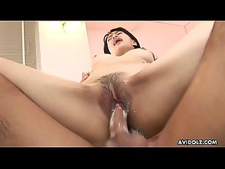 Busty asian hottie S pussy gets extremely wet while being fucked