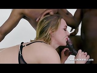 Private.com Sexy Blonde Liberta Black Takes Turns On 4 BBCs!