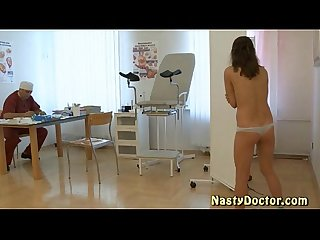 Her first gyno exam by old doc