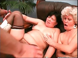 These old hairy bitches know how to fuck