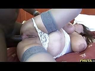 Slutty bbw analized by big black cock