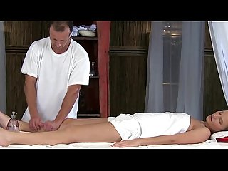 Massage model amateur gets massage from her masseuse