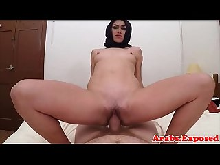 Hijab Arab babe takes cash for sex pov