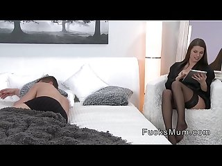 Busty milf banged in bedroom doggy style