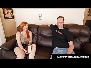 Busty redhead lauren phillips blows bangs her sex coach excl