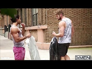 Muscle men colby keller and diego sans blows one another cock