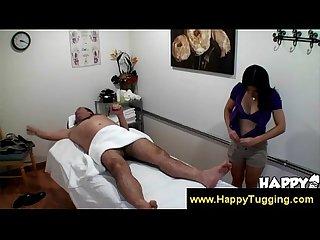 Asian masseuse wanking customer