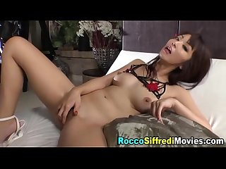 Ass rammed asian facial