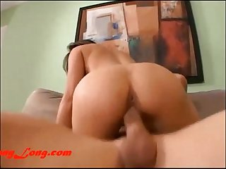 M**** S*** swallows Donny Long cum after he breaks her pussy..