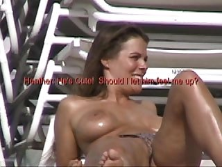 Exhibitionist Wife #42 - Husband Dares Heather To Tease At Non Nude Beach!