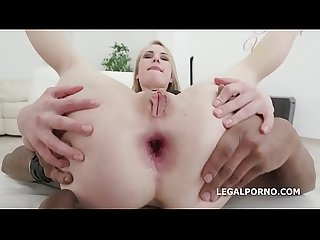 2on1 with madison lush losing her mind for that double cock injection