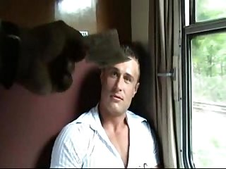 Muscle boy fucke in Train for money bareback
