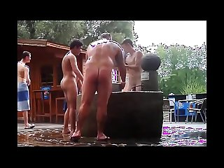 Shy Twinks Enjoy Nudist Outdoor Sauna For The First Time