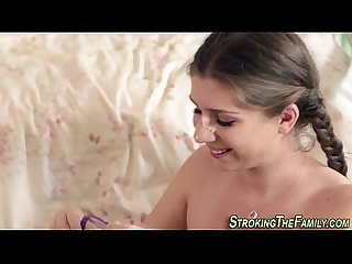 Teeny stepsis jizz faced