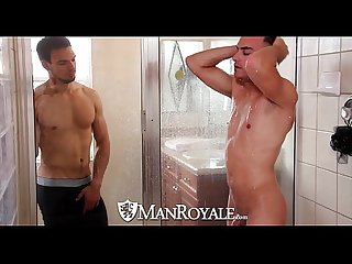 Hd manroyale boyfriends share a shower before sex