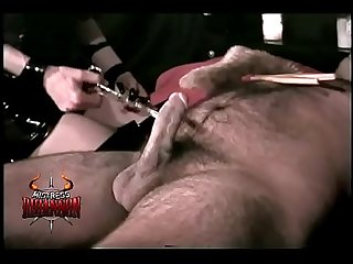 Big titted mistress Rhiannon tortures a helpless slave part 1