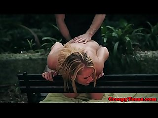 Lovely teen banged in doggystyle by stalker